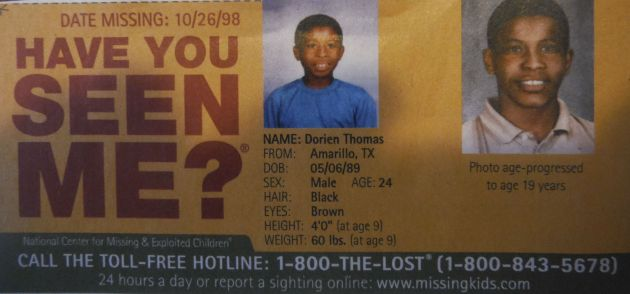 Have You Seen Me? - Dorien Thomas - Amarillo, TX - Missing Since 10/26/98