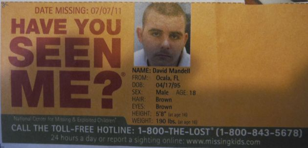 Have You Seen Me? - David Mandell - Ocala, FL - Missing Since 4/17/95
