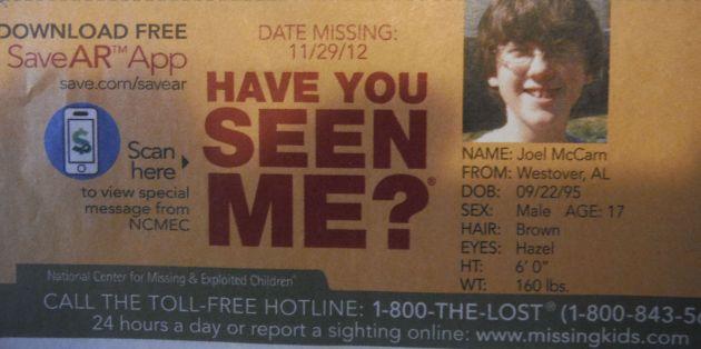 Have You Seen Me? - Joel McCarn - Westover, AL - Missing Since 11/29/12
