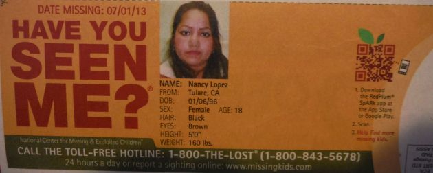 Have You Seen Me? - Nancy Lopez - Tulare, CA - Missing Since 7/1/13