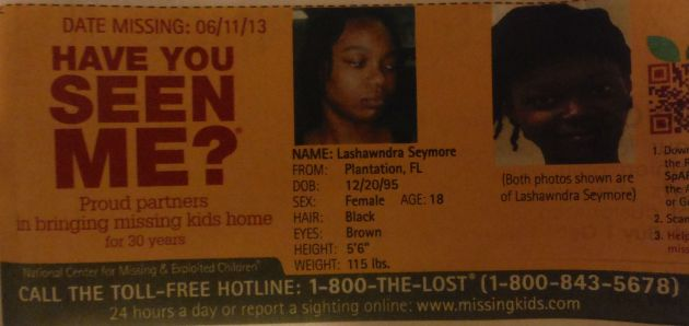 Have You Seen Me? - Lawshandra Seymore - Plantation, FL - Missing Since 6/11/13