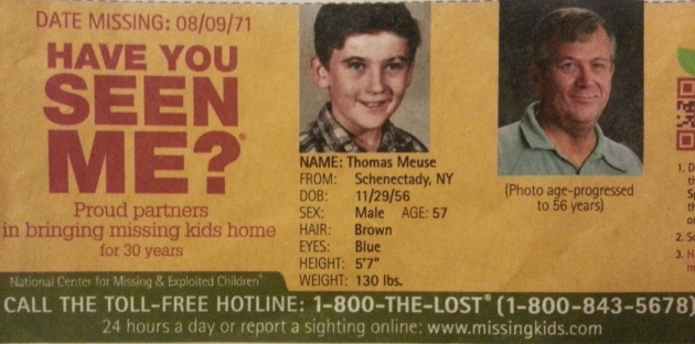 Have You Seen Me? - Thomas Meuse - Schenectady, NY - Missing Since 8/9/71