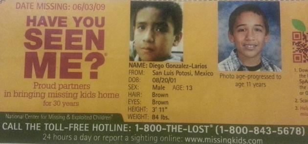 Have You Seen Me? - Diego Gonzalez-Larios - San Luis Potosi, Mexico - Missing Since 6/3/09