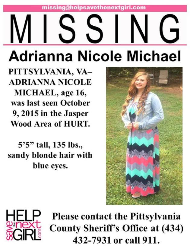 Pittsylvania Va Wwbt The Pittsylvania County Sheriffs Office Needs Your Help Finding A Missing 16 Year Old Girl Adrianna Nicole