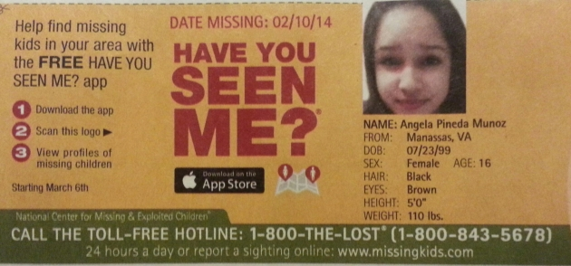 Have You Seen Me? - Angela Pineda Munoz - Manassas, VA - Missing Since 2/10/14