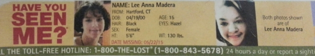Have You Seen Me? - Lee Anna Madera - Hartford, CT - Missing Since 5/22/15